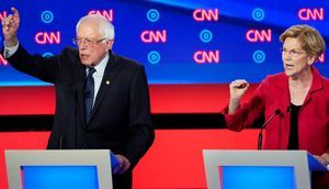 Sanders and Warren Battle Accusations of 'Fairy Tale' Promises as Intraparty Rift Flares